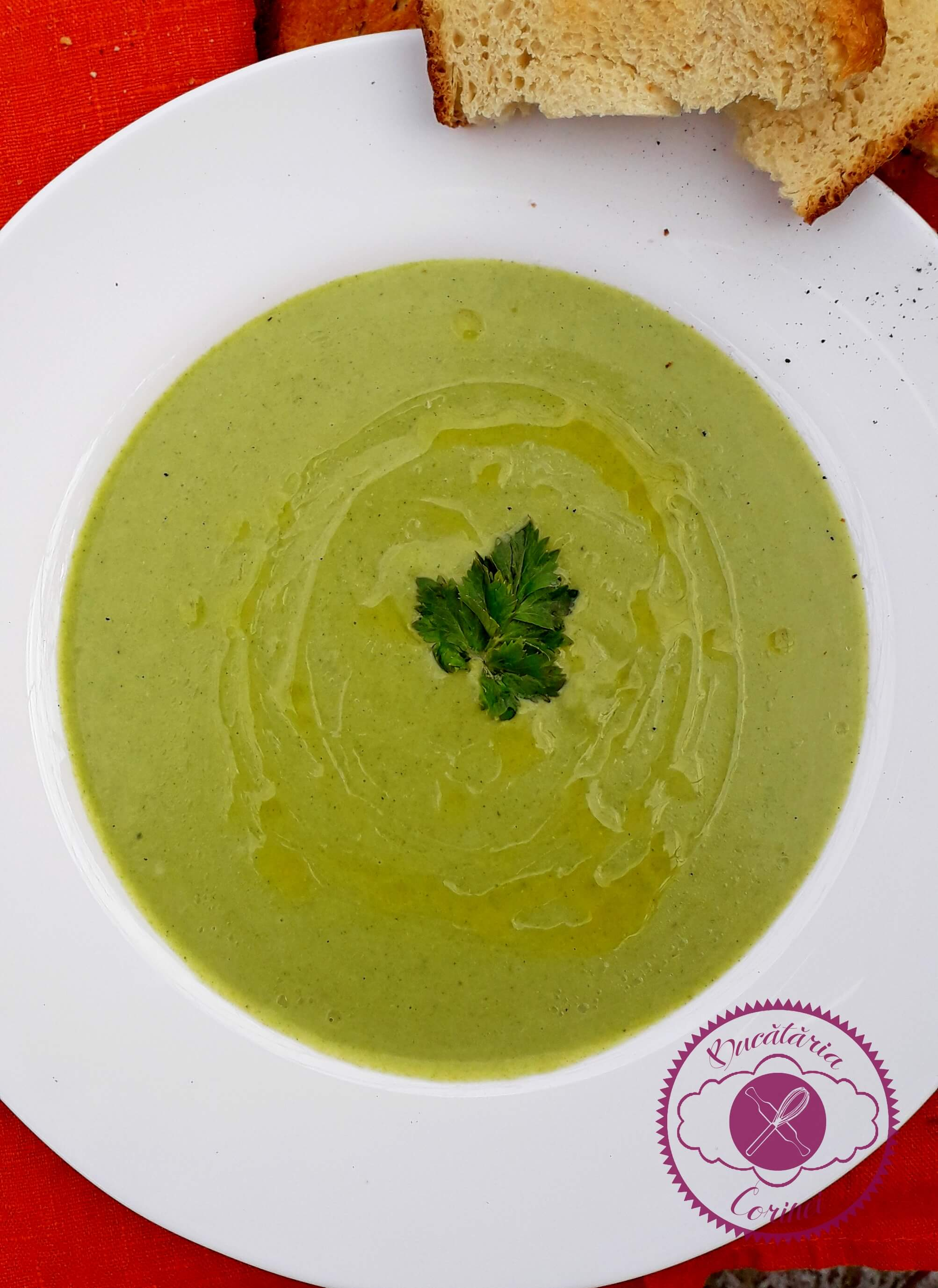 Supa crema de broccolli si camembert